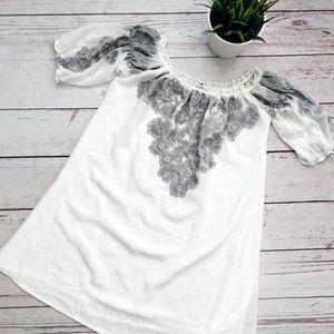 FOR LOVE & LEMONS Embroidered Off Shoulder Tunic